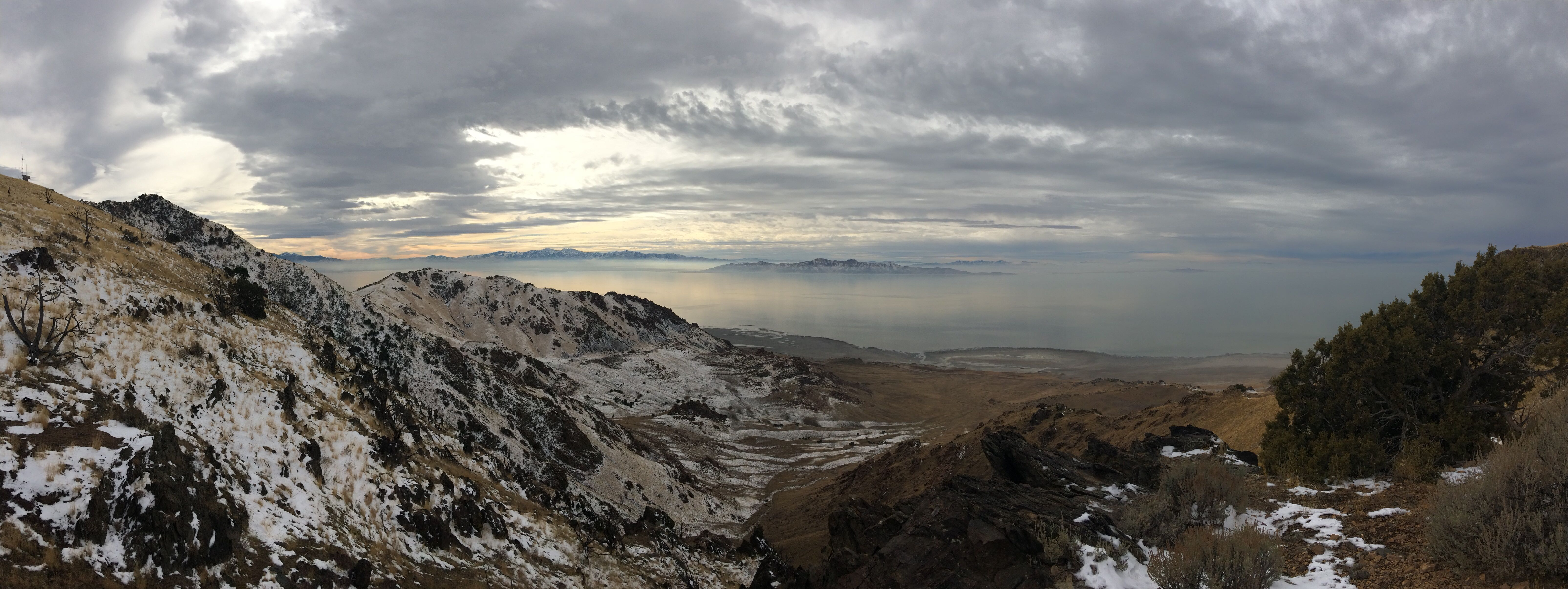 Spectacular images from our Antelope Island lab hike this week
